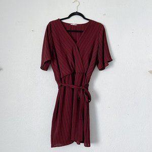 Striped Burgundy Dress